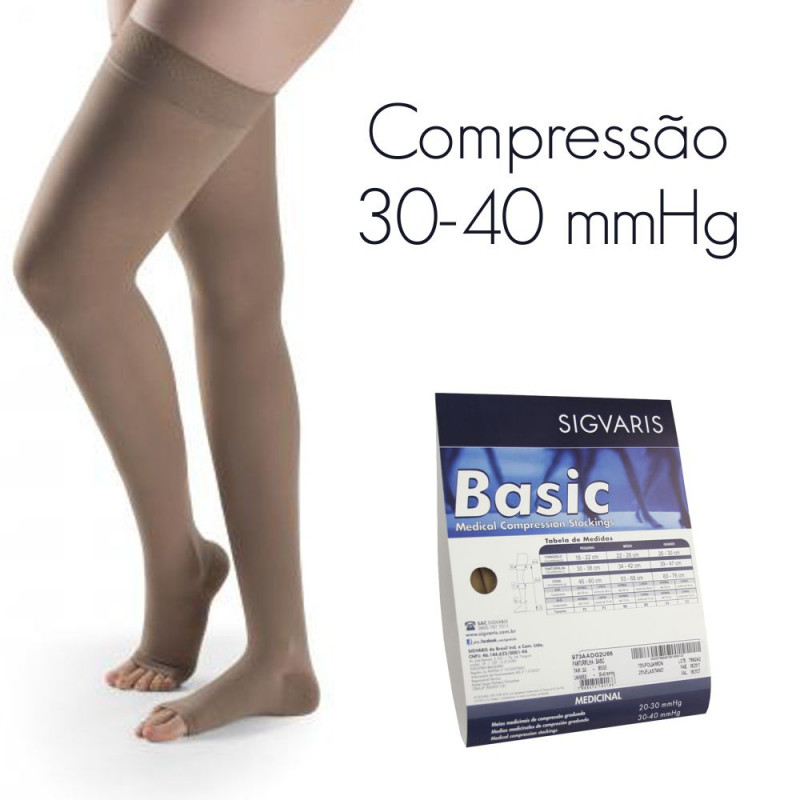 d80dce94c Meia de Compressão SIGVARIS BASIC Meia Coxa 30-40 mmHg