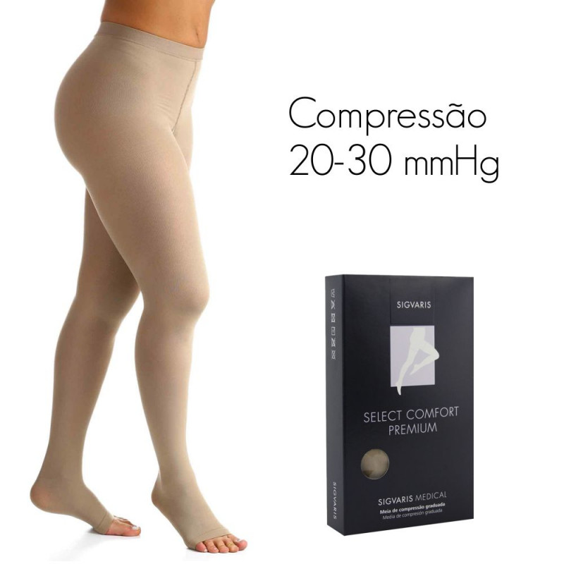 63d5fbdf5 Meia de compressão SIGVARIS SELECT COMFORT PREMIUM Meia Calça 20-30 mmHg