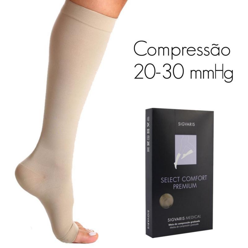 eb2df8666 Meia de compressão SIGVARIS SELECT COMFORT PREMIUM Panturrilha 20-30 mmHg