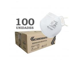 Caixa Máscara Respirador Descartável PFF2 Carbografite