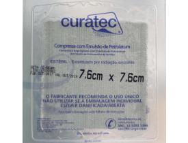 Curatec Compressa com Emulsão de Petrolatum 7,6 x7,6 cm