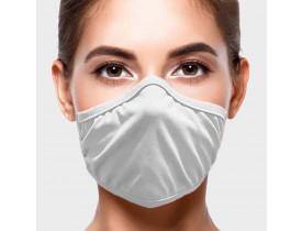 Máscara Lavável Adulto Adesiva 3 unidades cor Branco