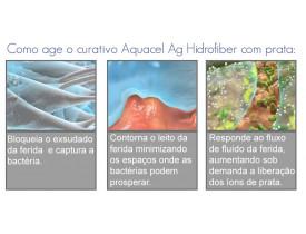 Aquacel Ag Curativo de Hidrofibra com Prata