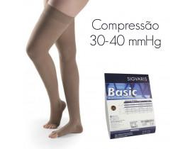 Meia de Compressão SIGVARIS BASIC Meia Coxa 30-40 mmHg